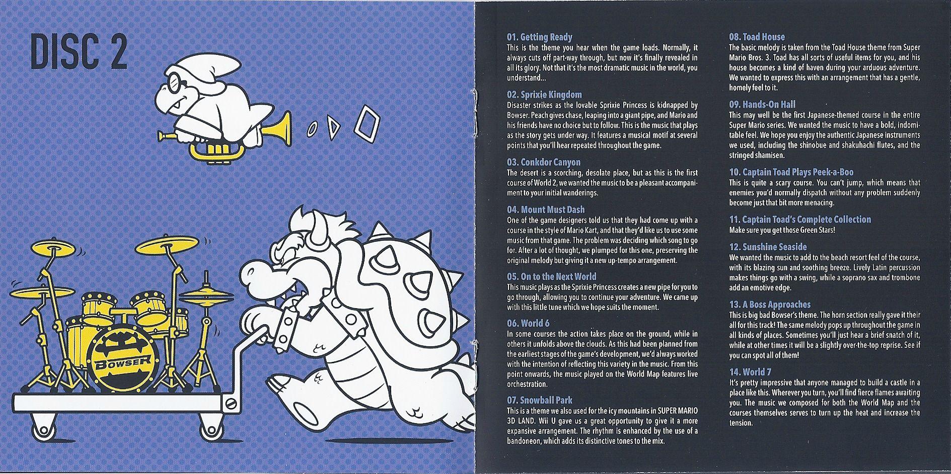 Disc 2 Song Descriptions | Super Mario | Know Your Meme