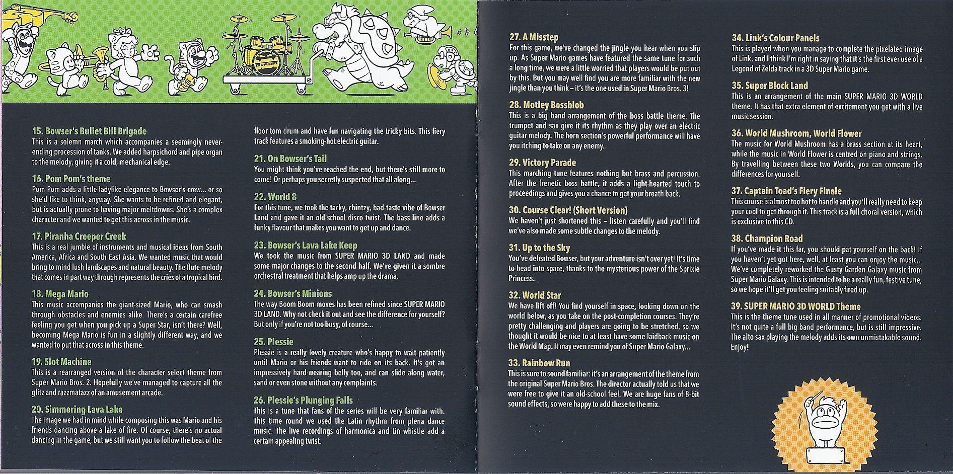 More Disc 2 Song Descriptions | Super Mario | Know Your Meme