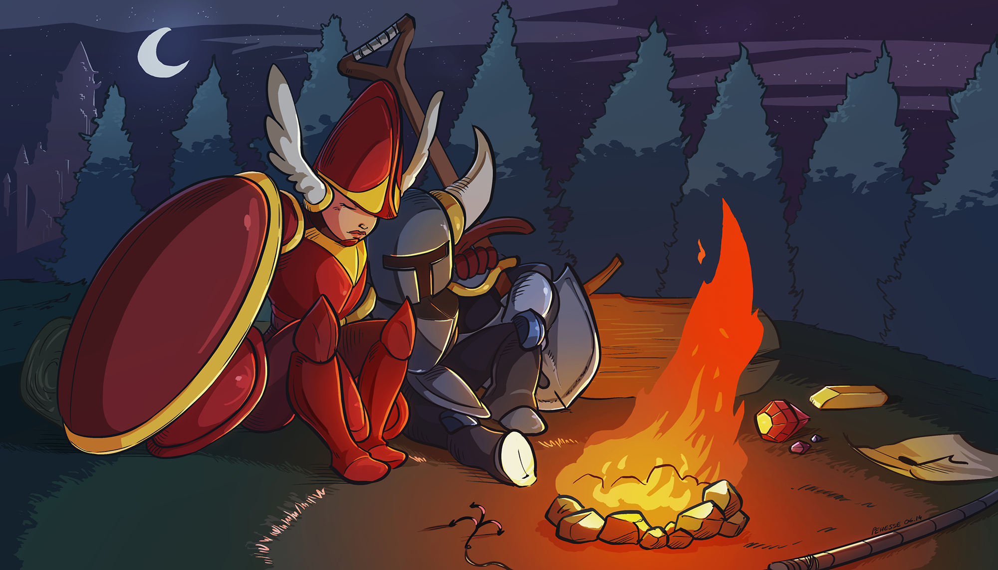Rest Well Until We Meet Again Shovel Knight Know Your Meme