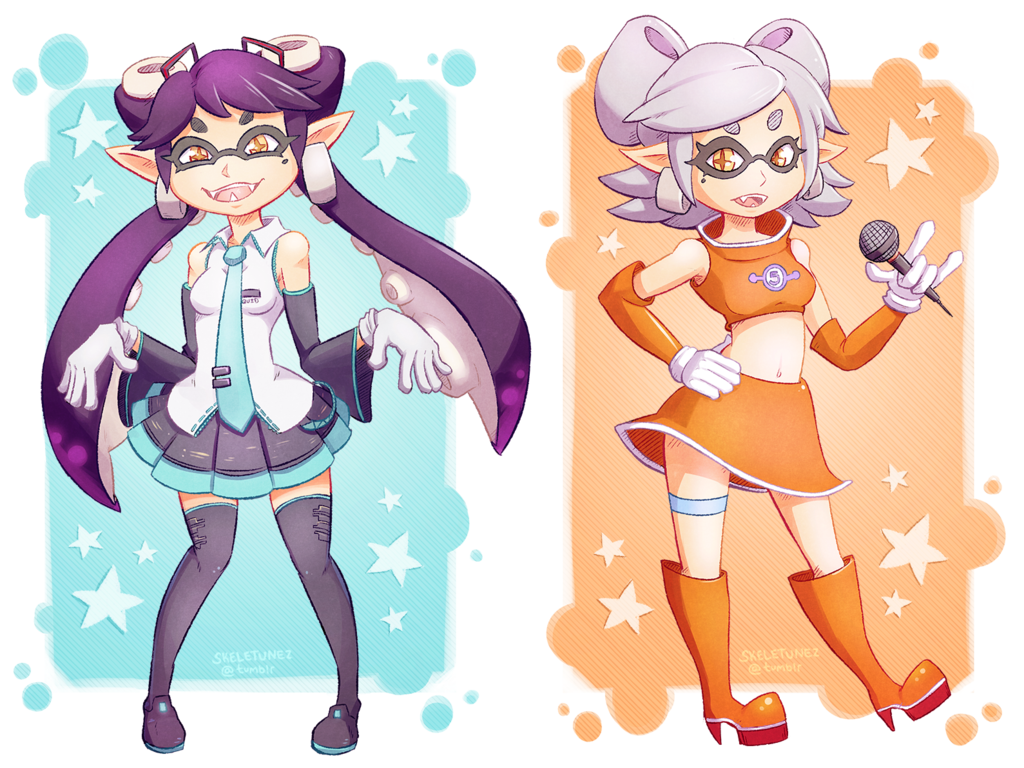 Callie As Miku Marie As Ulala Squid Sisters Know Your Meme