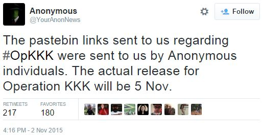 YourAnonNews Tweet | #OpKKK | Know Your Meme