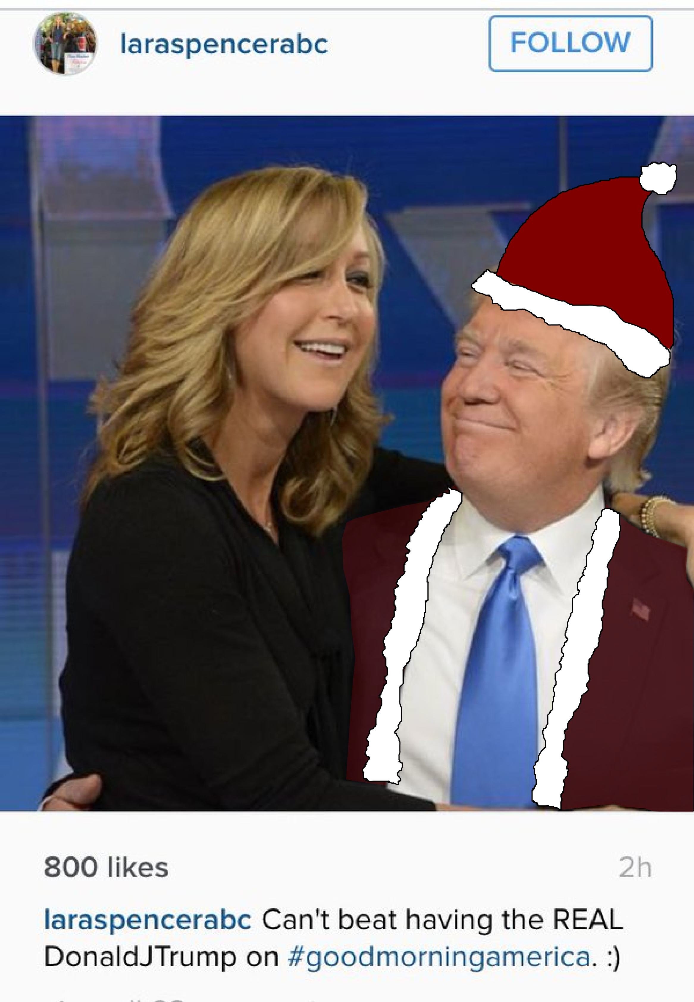 laraspencerabc follow 800 likes 2h laraspencerabc cant beat having the real donaldjtrump on - I Ve Been Dreaming Of A White Christmas