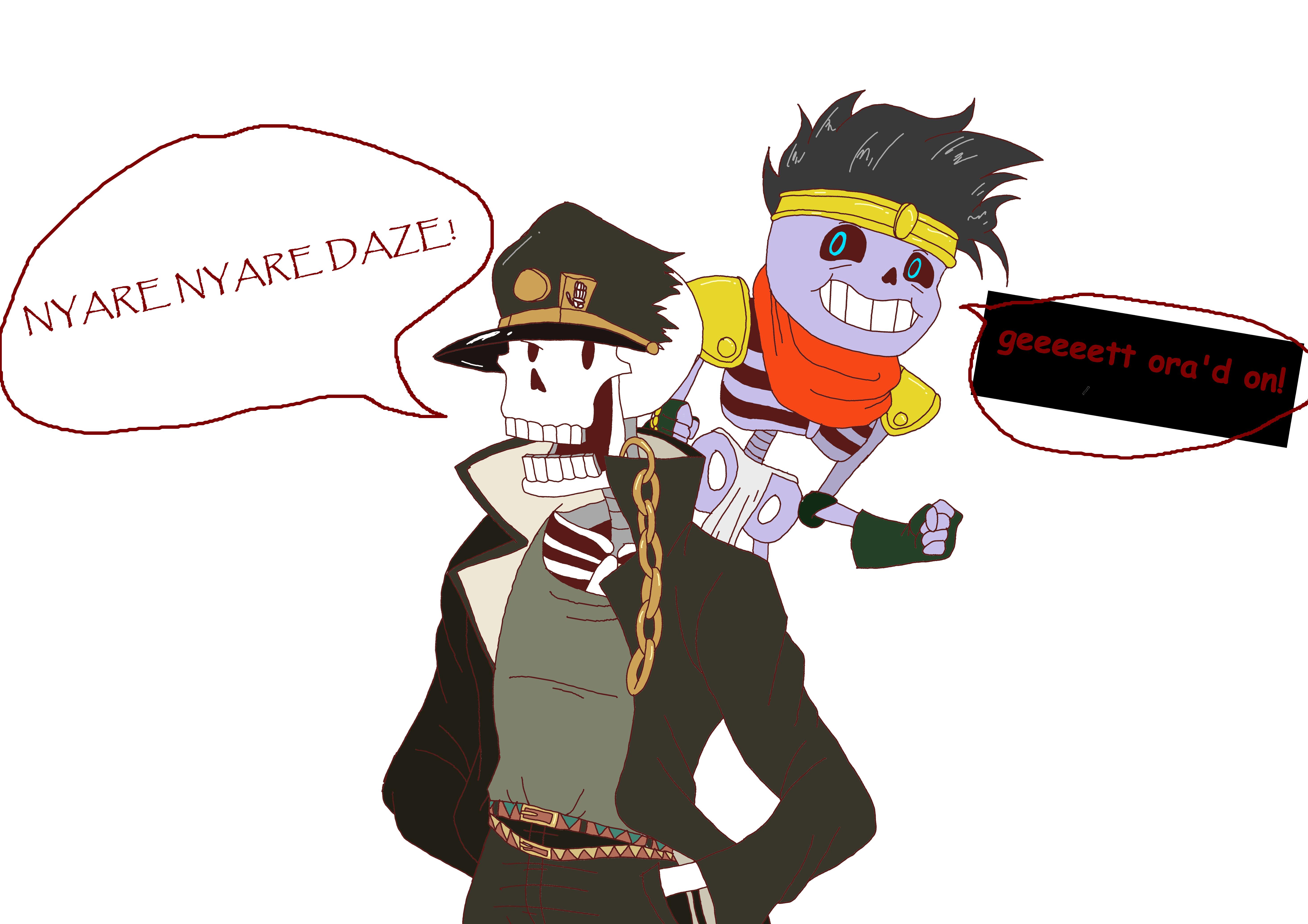 Papyrus Kujo And His Stand Sans Platinum Undertale Know Your Meme