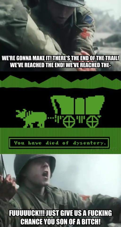 saving oregon trail you have died of dysentery know your meme