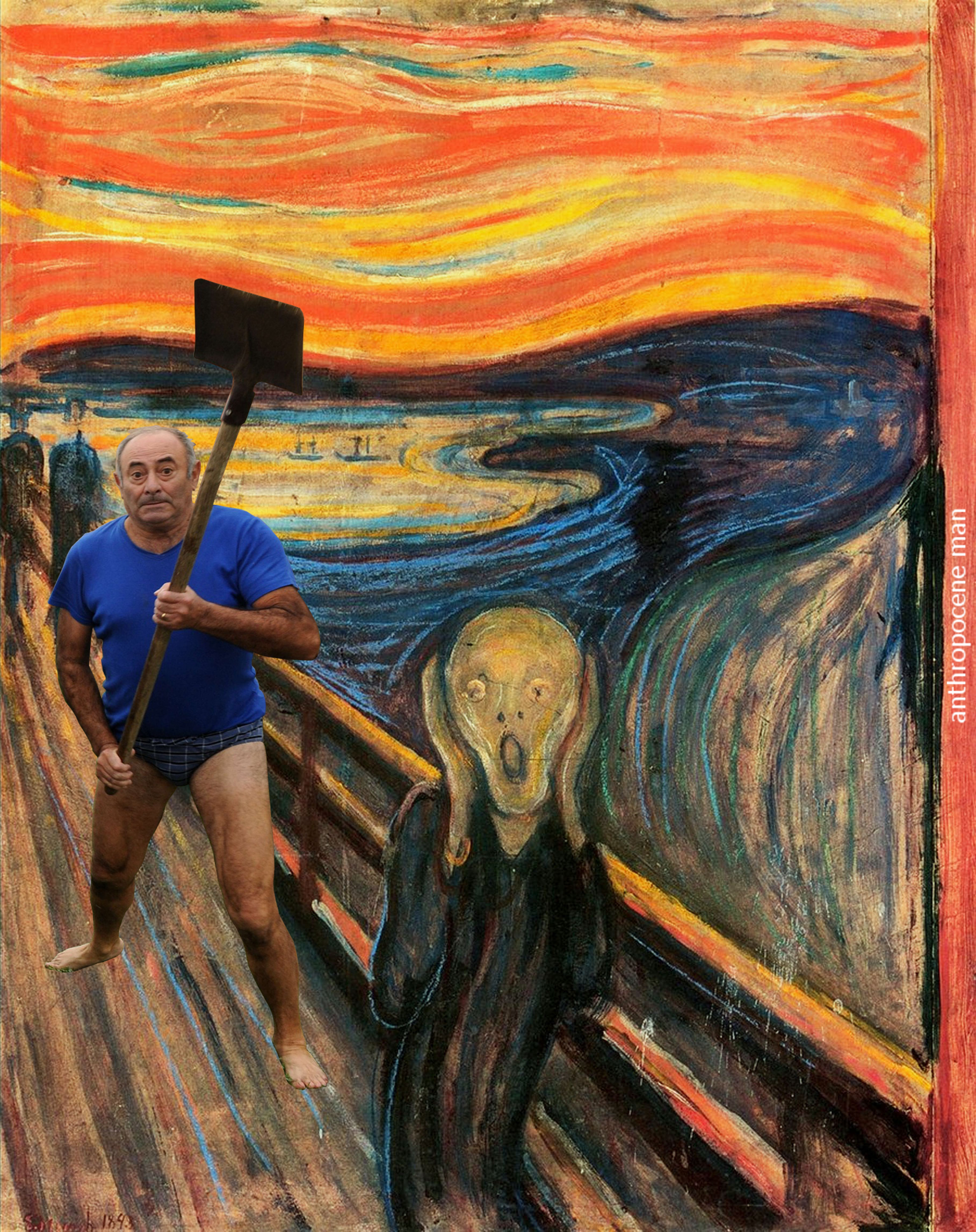 Screaming Man Painting Meme