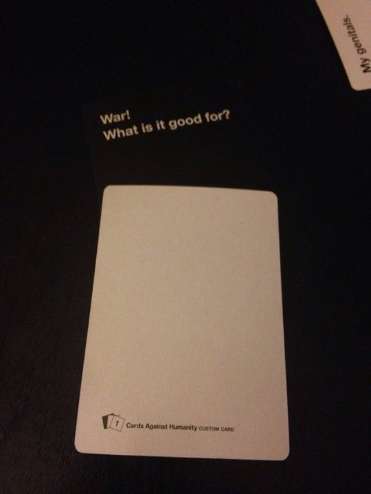 A Use For The Blank Cards Cards Against Humanity Know Your Meme