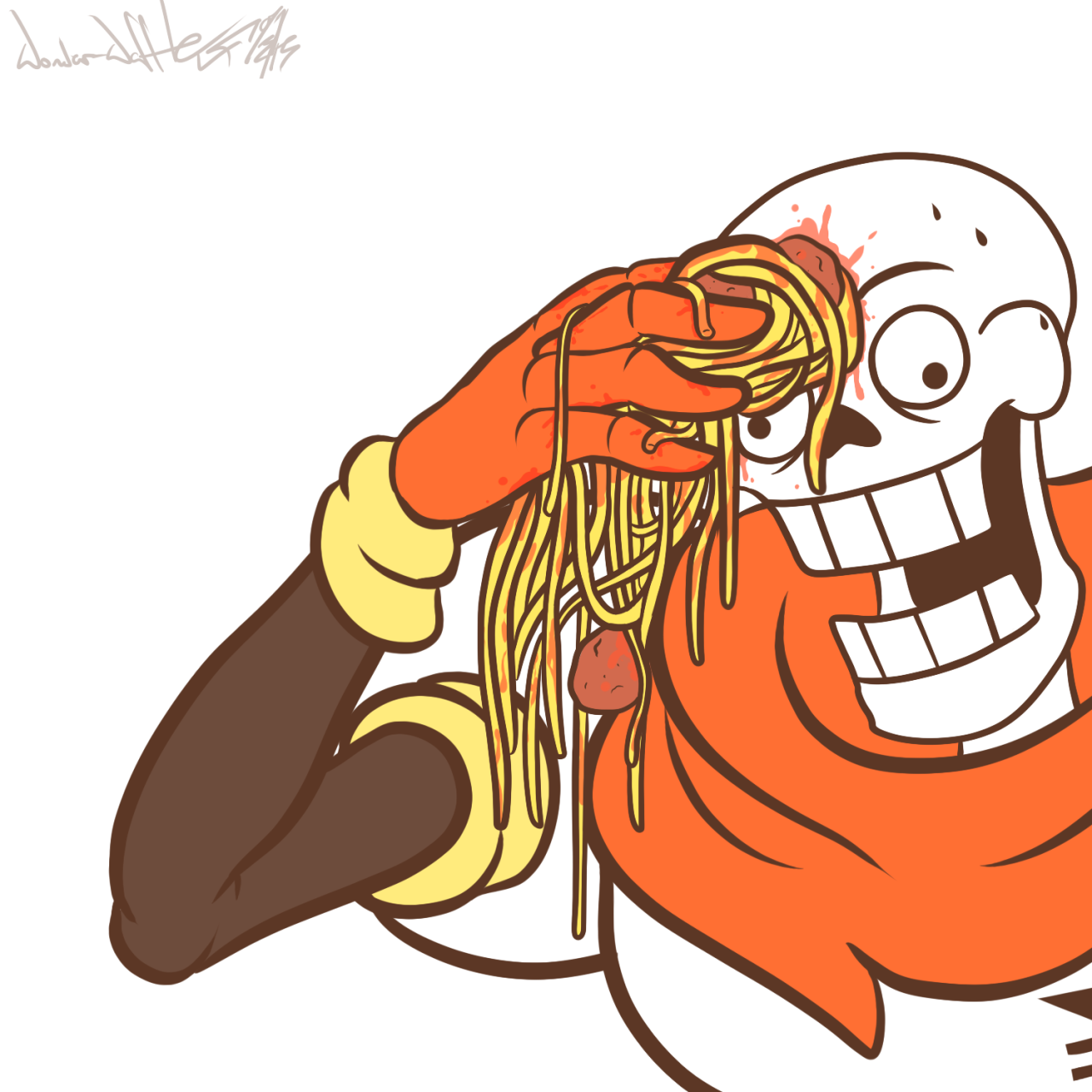 Wiping Skeleton Sweat With Spaghetti Sweating Towel Guy Know