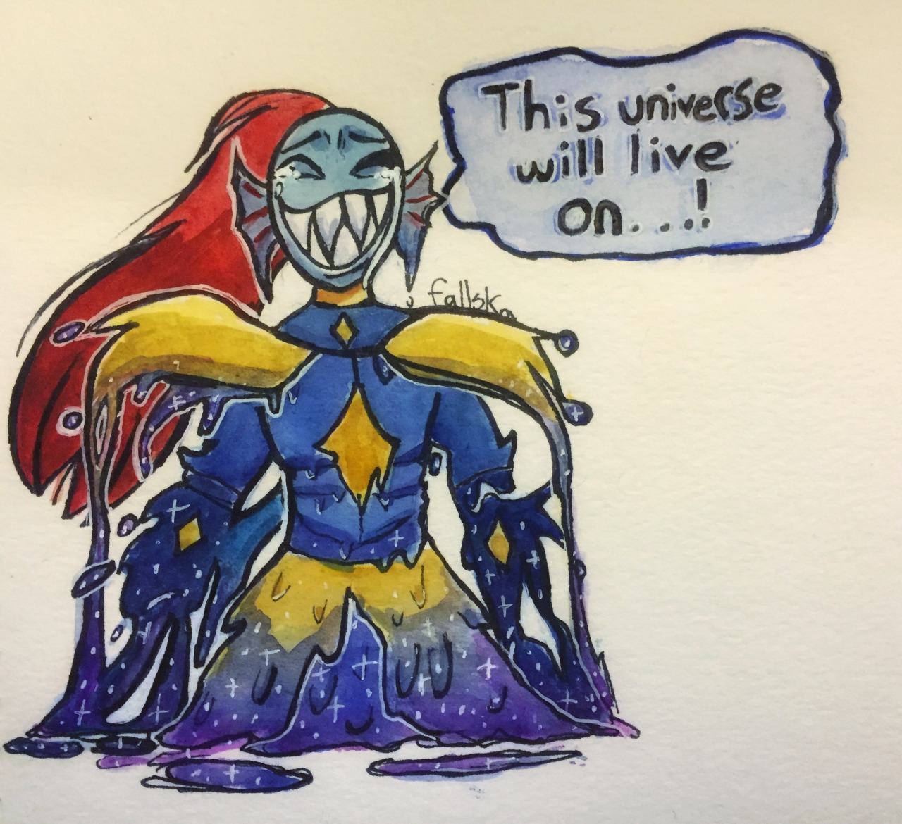 Outertale Undyne the Undying    Undertale   Know Your Meme