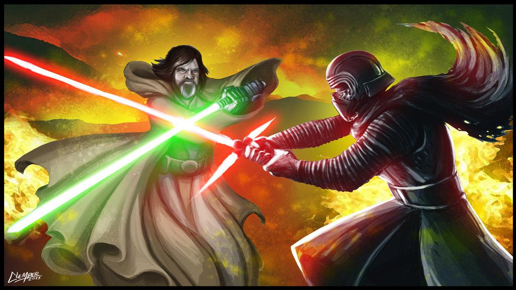 Luke Vs Kylo Ren Star Wars Episode Vii The Force Awakens Know Your Meme