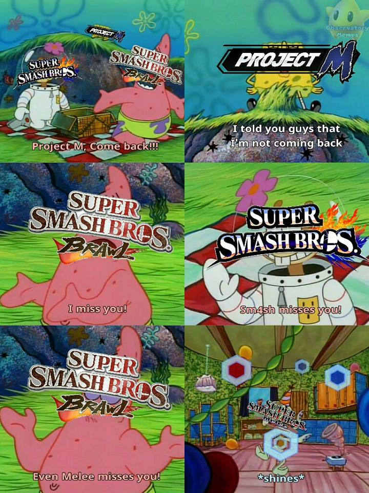 Come Back Project M Super Smash Brothers Know Your Meme