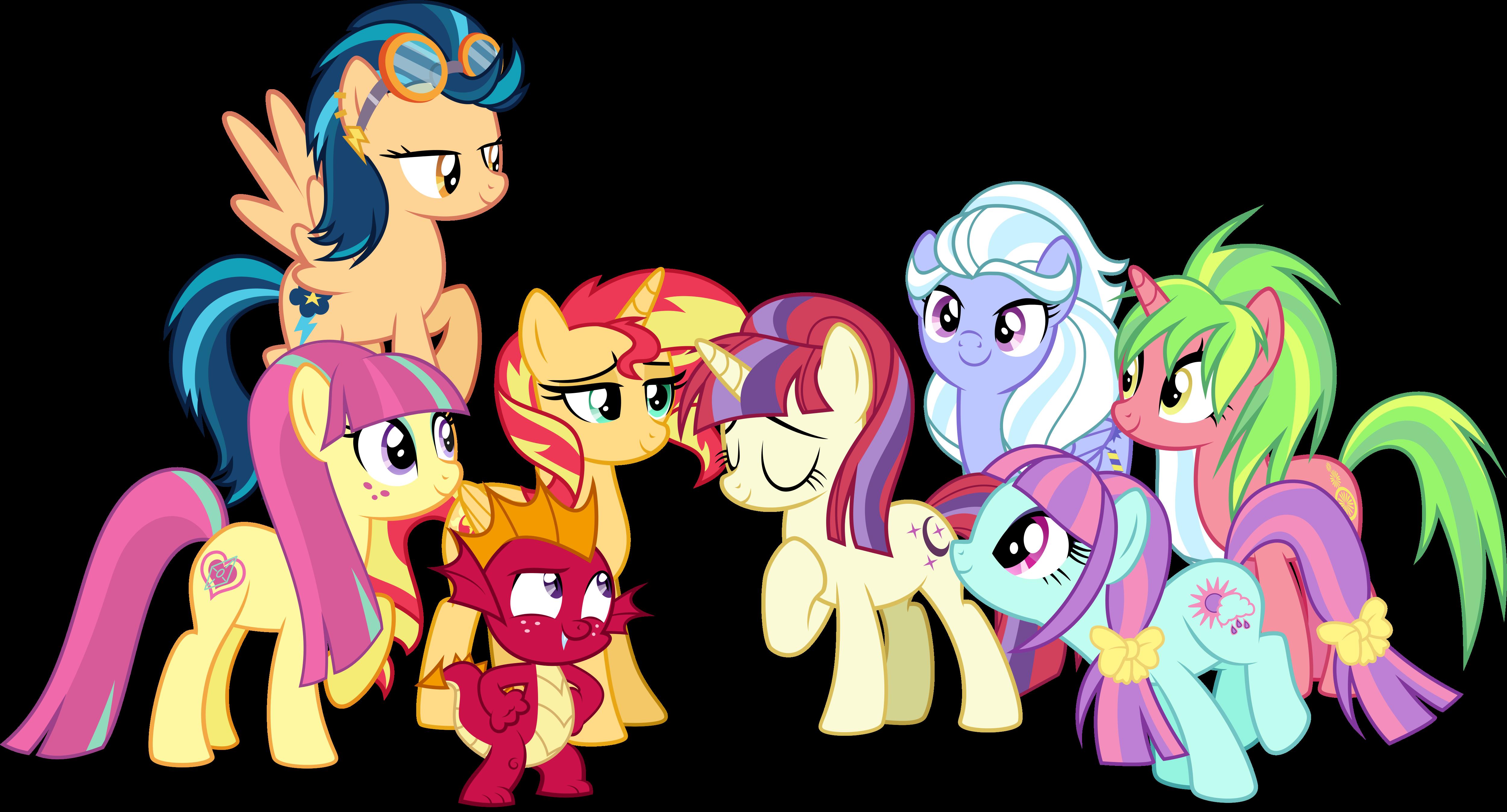Rainbow Dash Twilight Sparkle Fluttershy Pinkie Pie Rarity Pony Spike Sunset Shimmer Cartoon Mammal Vertebrate Horse
