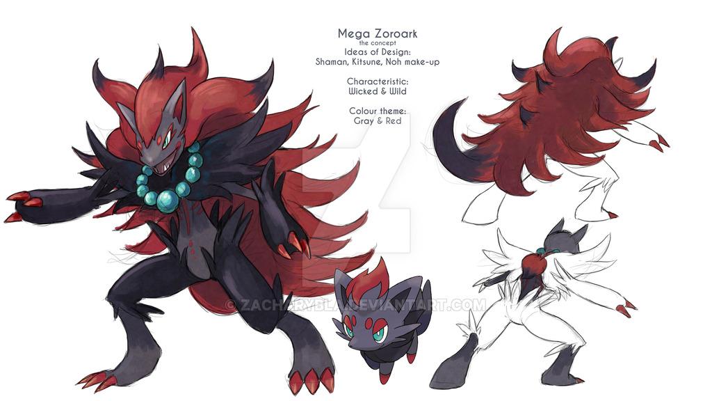 Mega Zoroark Concept By Zacharybla Pokémon Know Your Meme