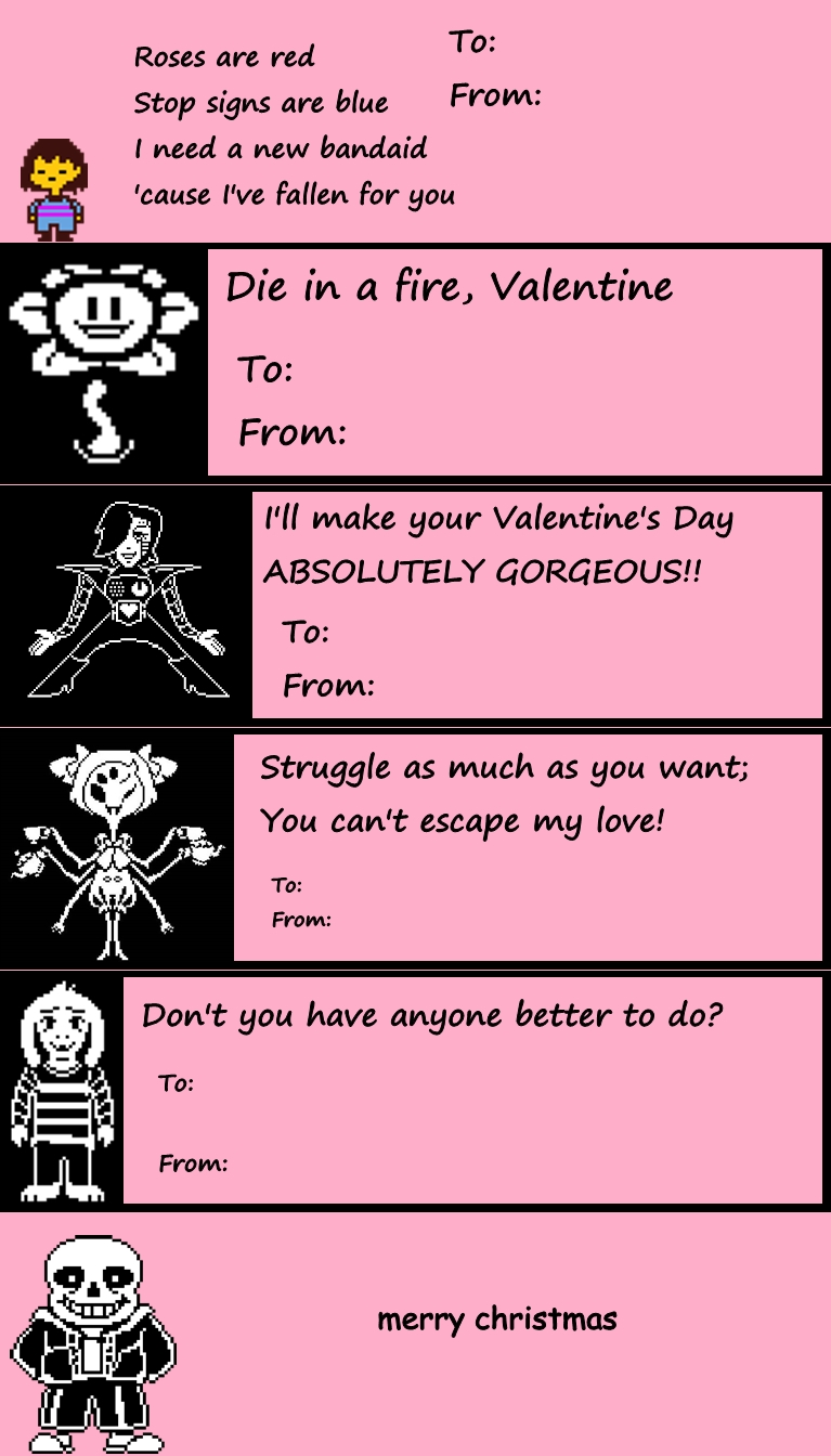 Undertale Valentine's Day Cards | Undertale | Know Your Meme