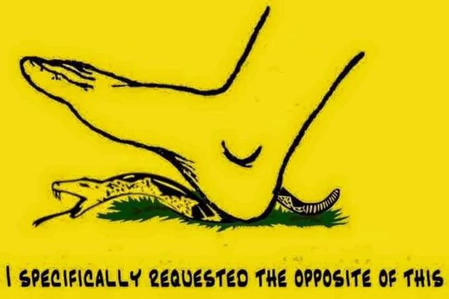 the opposite gadsden flag don t tread on me know your meme