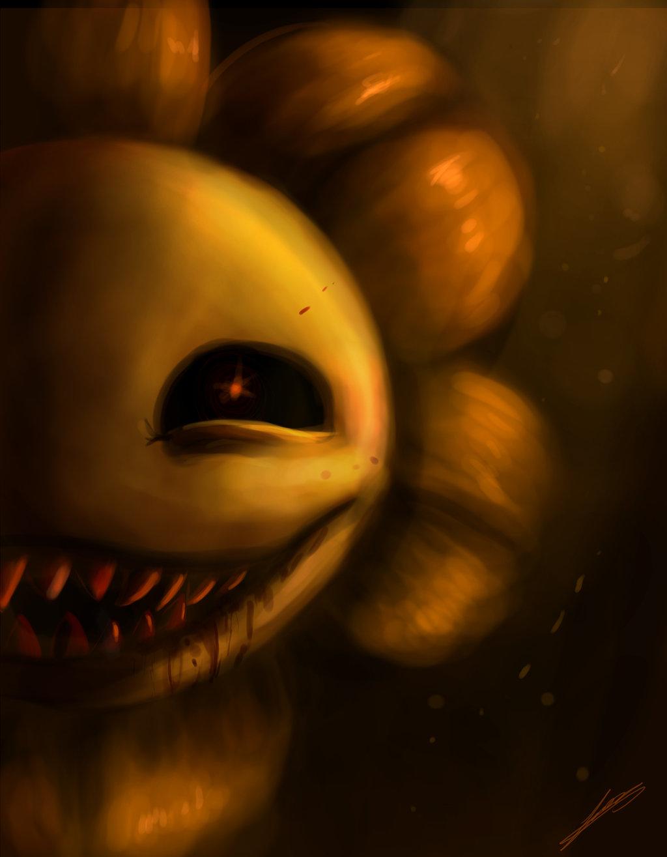 flowey creepy face