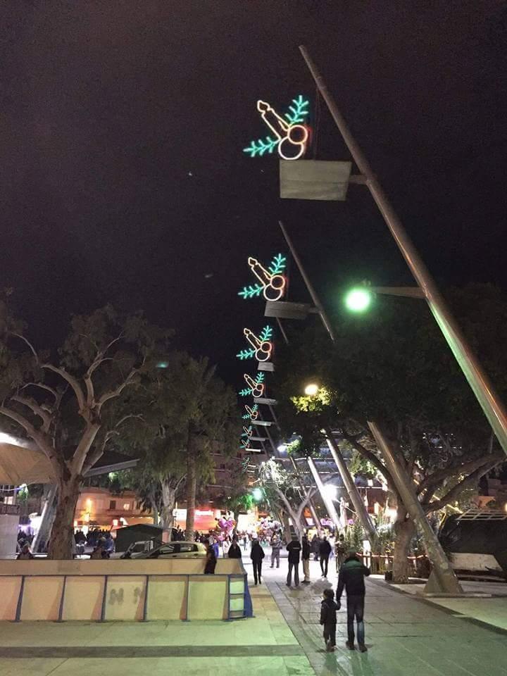 night tree light lighting