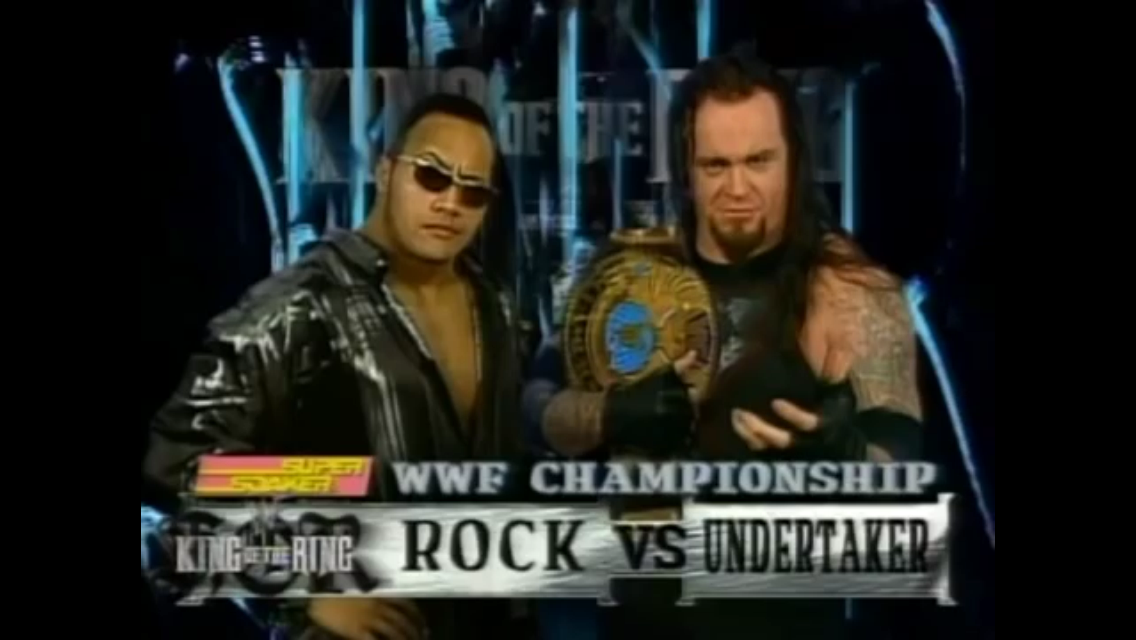 The Rock Vs Undertaker With A Evil Smile Professional Wrestling Know Your Meme
