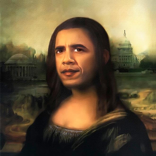 obama mona lisa know your meme
