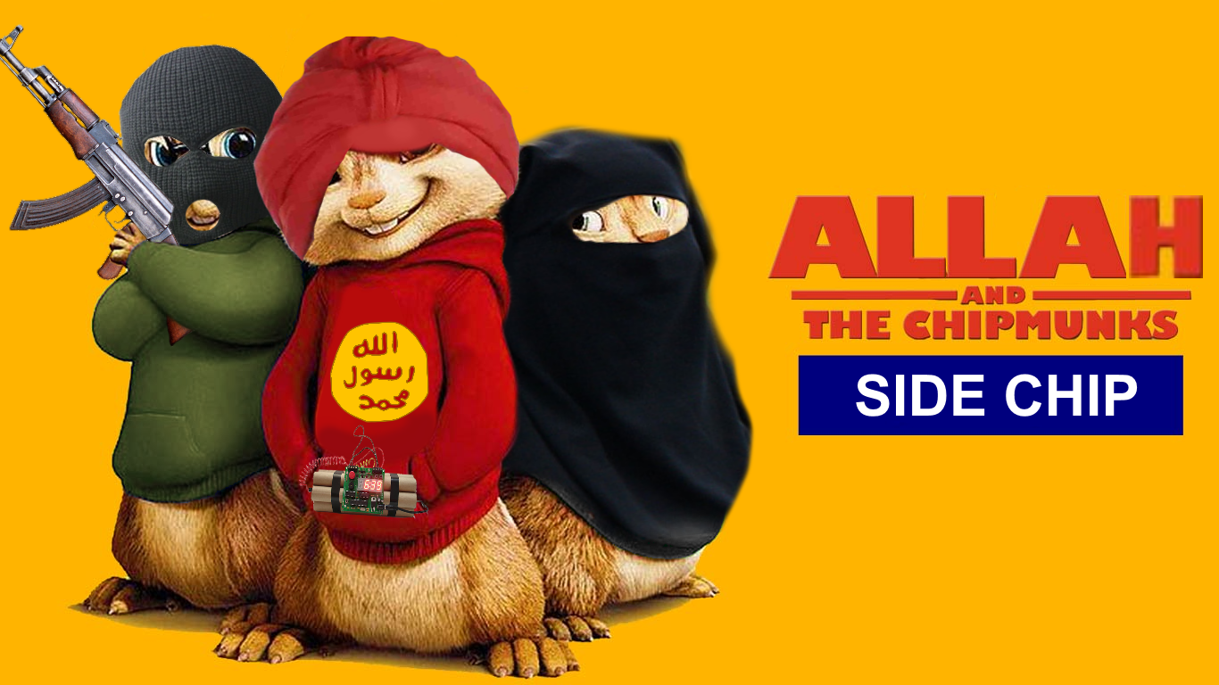 allah and the chipmunks side chip allahu akbar know your meme
