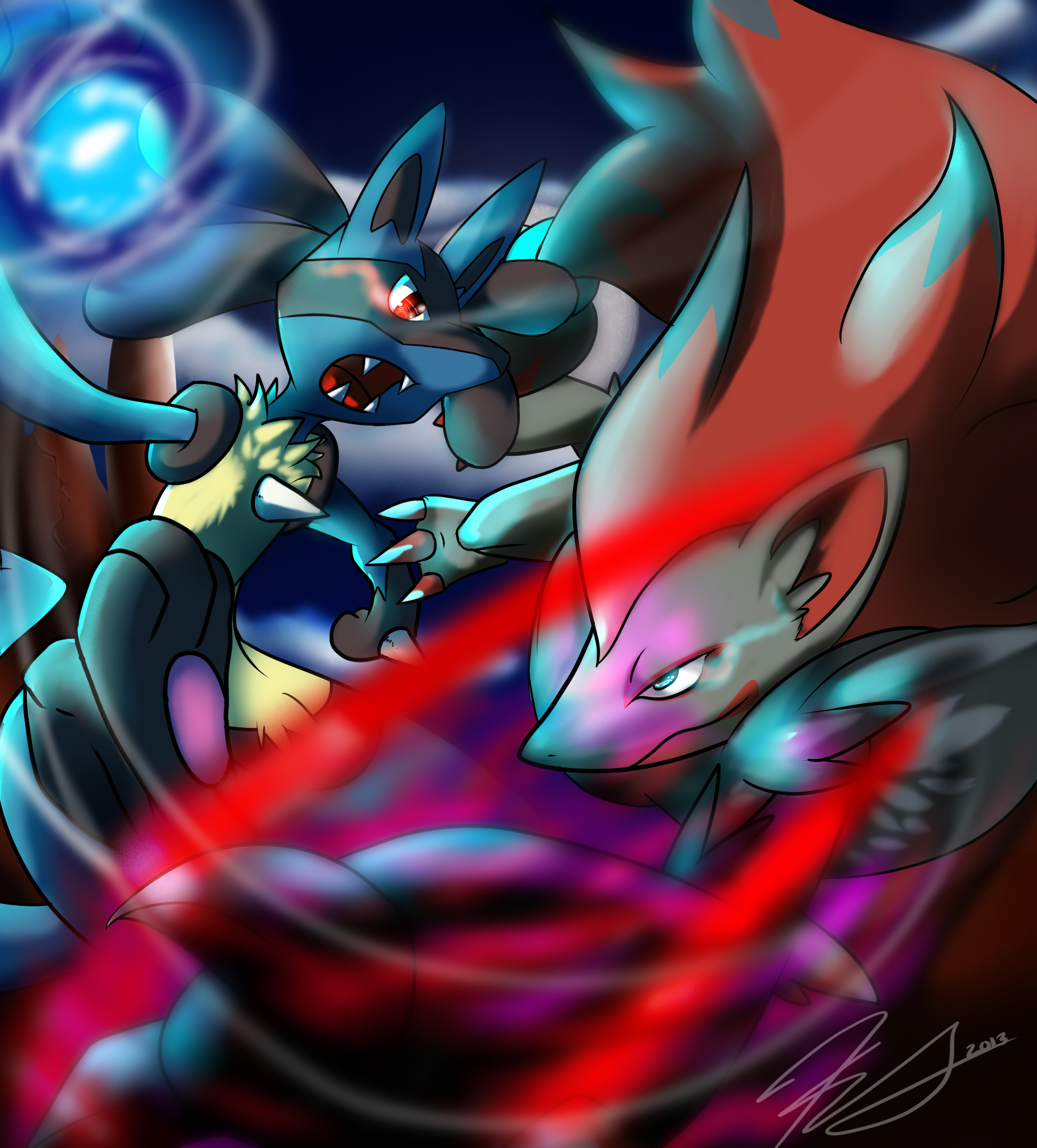 Lucario Vs Zoroark Pokémon Know Your Meme