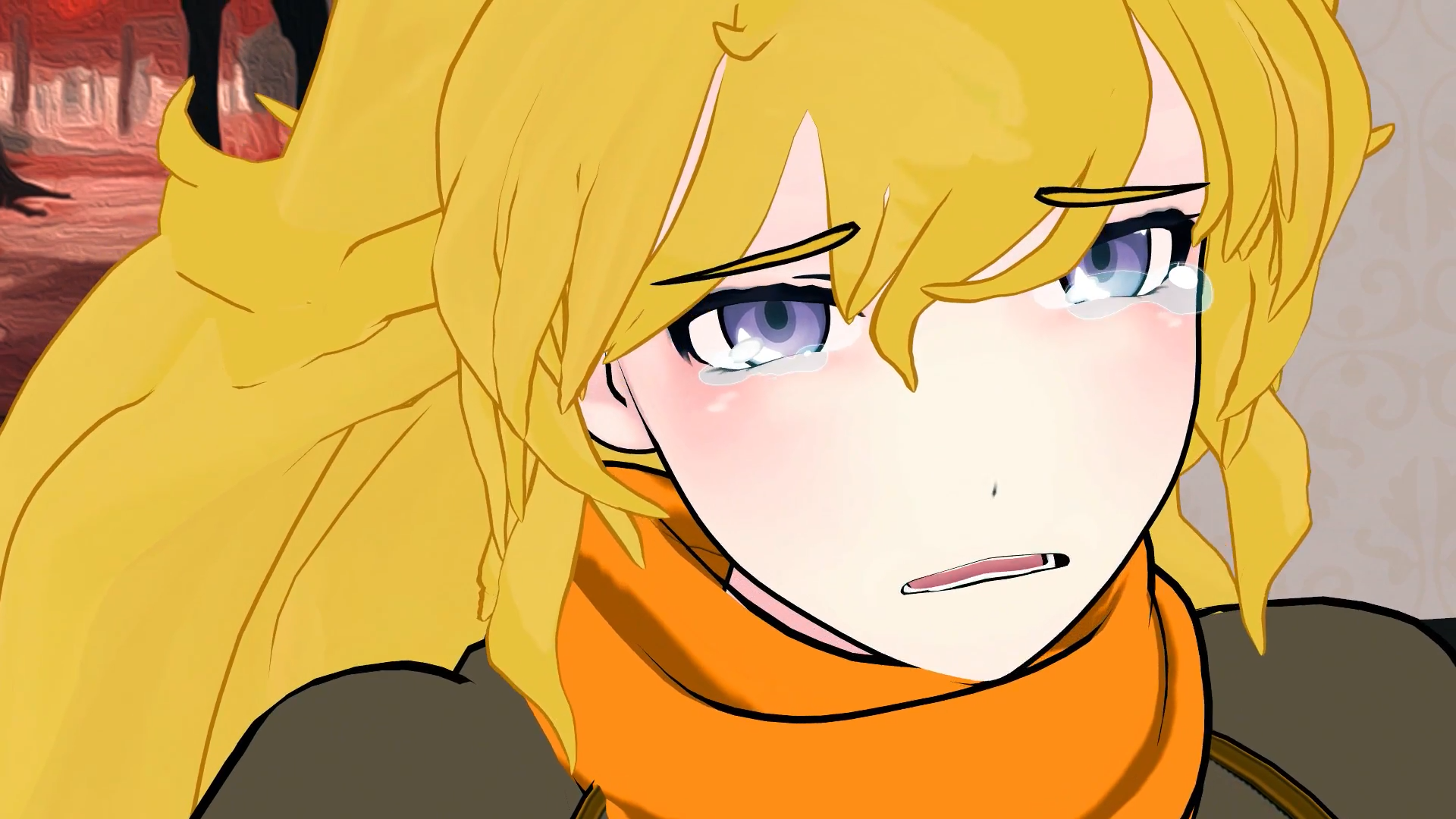 Yang xiao long weiss schnee yellow cartoon human hair color anime facial expression nose eye head