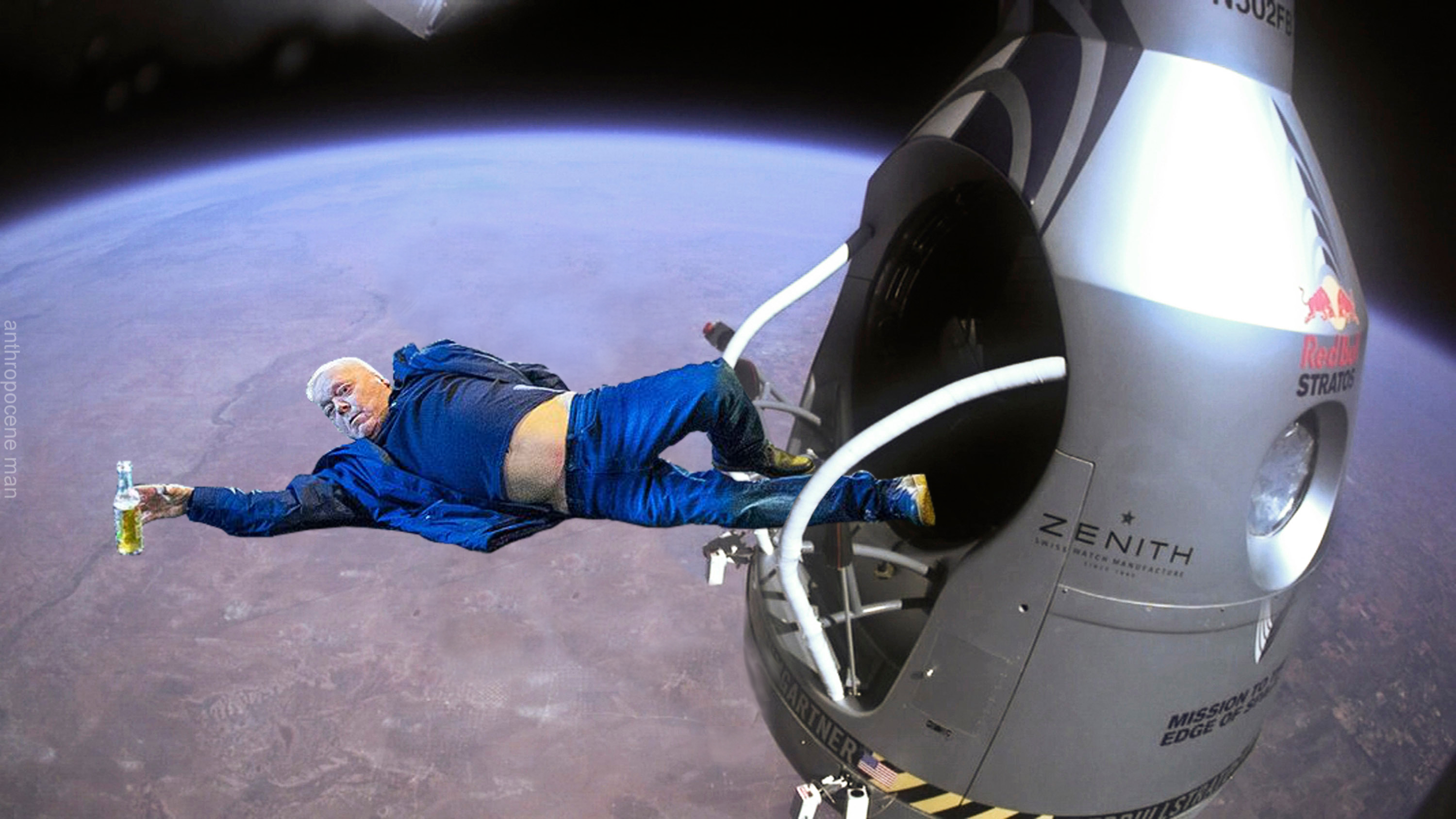 red bull stratos | Manchester New Year's Eve Photo | Know Your Meme