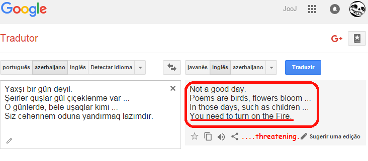 so i translated sans speech through many languages and