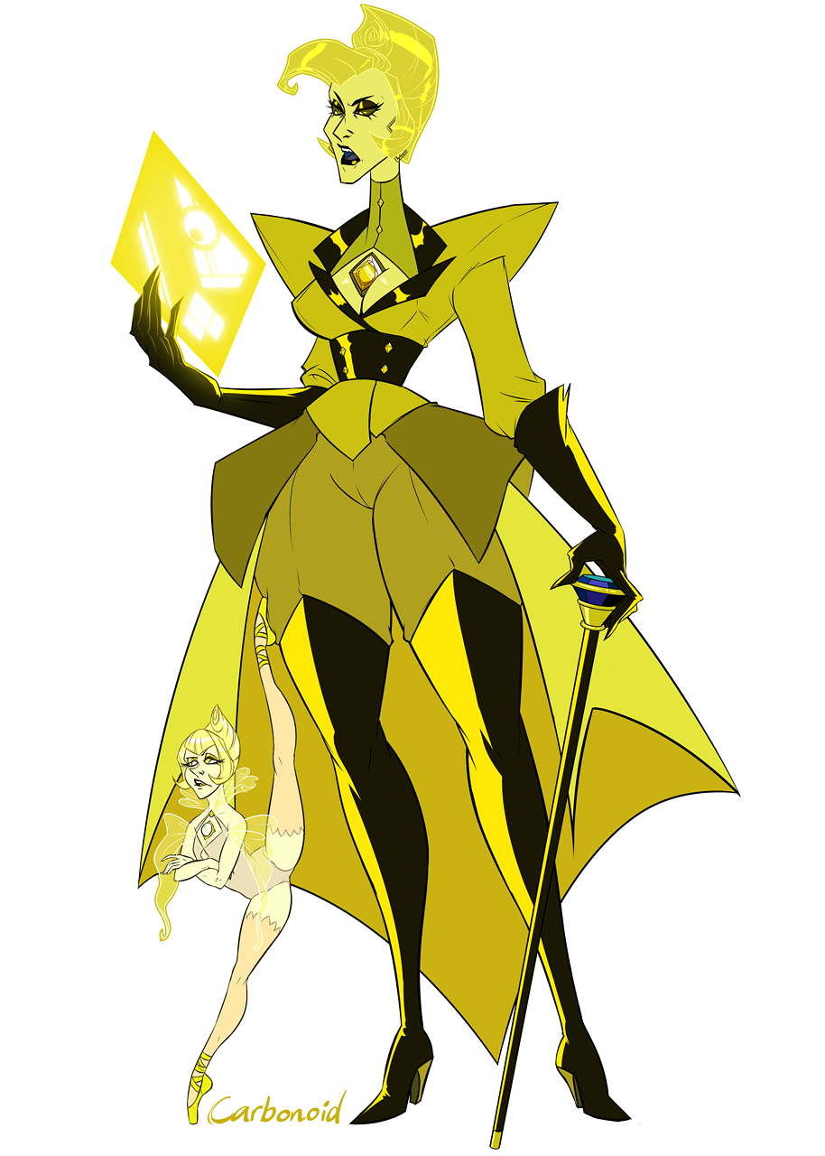 carbonoid s yellow diamond and yellow peral steven universe know