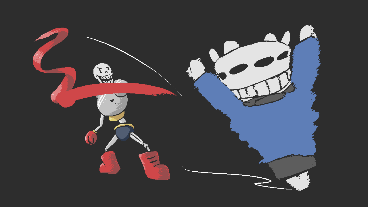 Papyrus and Sans doing a duo attack like Mario & Luigi | Undertale