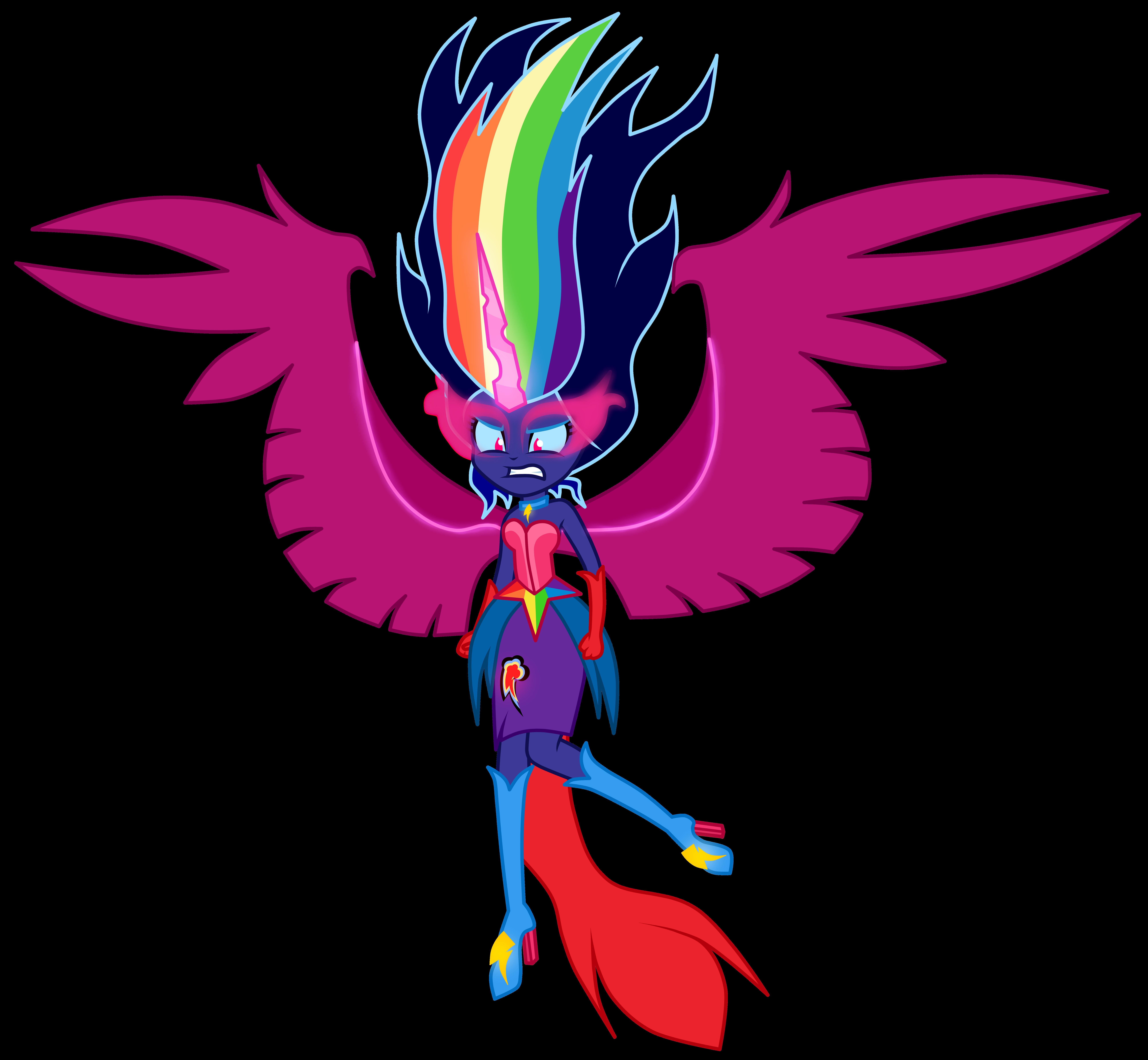 Black Rainbow By Mixiepie My Little Pony Equestria Girls Know Rh  Knowyourmeme Com My Little Pony Template Free