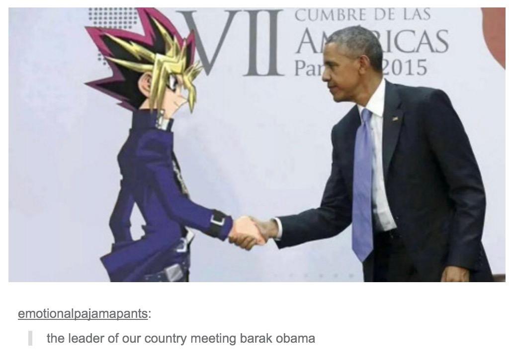 Yugi Meets Barack Barack Obama Know Your Meme