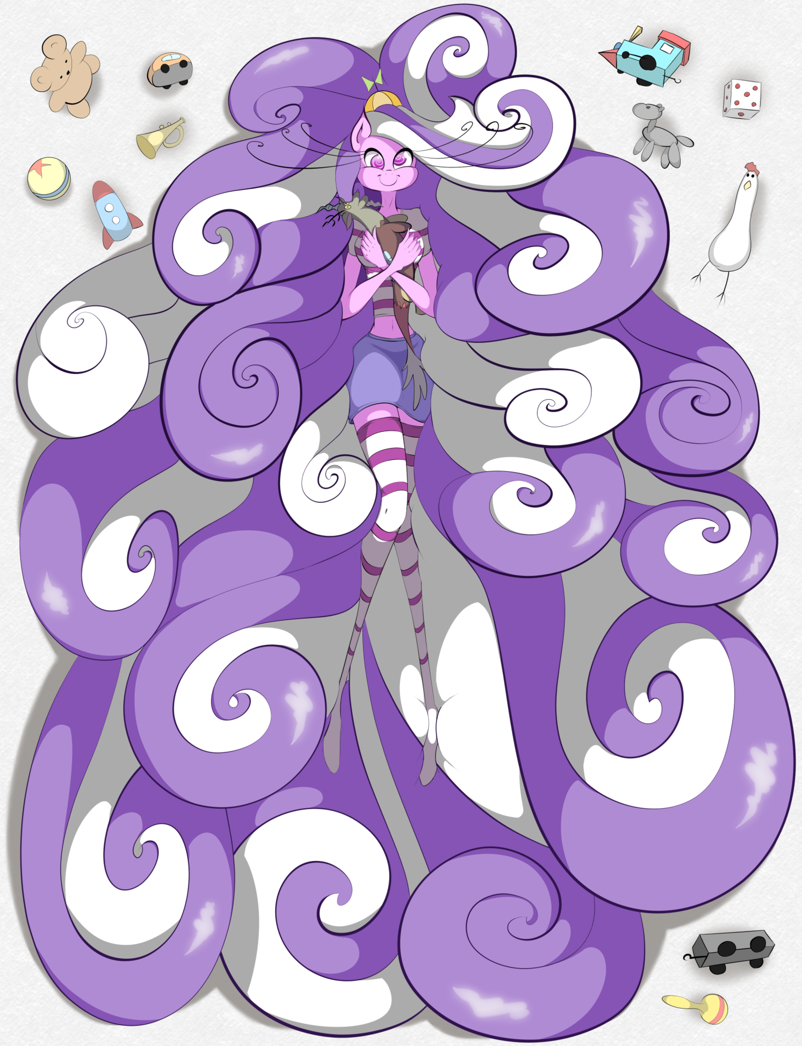 Fluttershy Pony Purple Violet Lilac Pattern Design