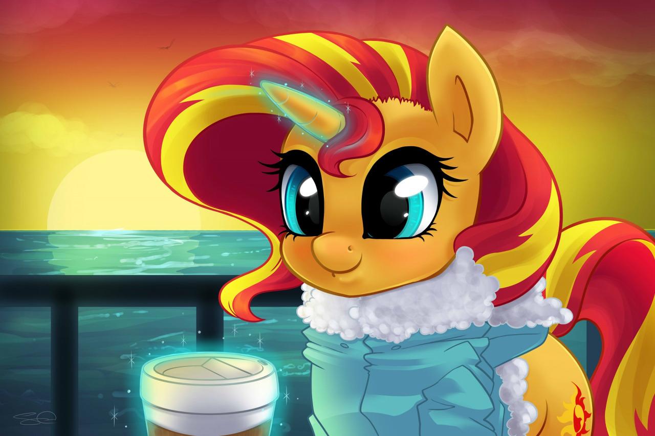 Little Sunset Shimmer Doodle My Little Pony Friendship Is