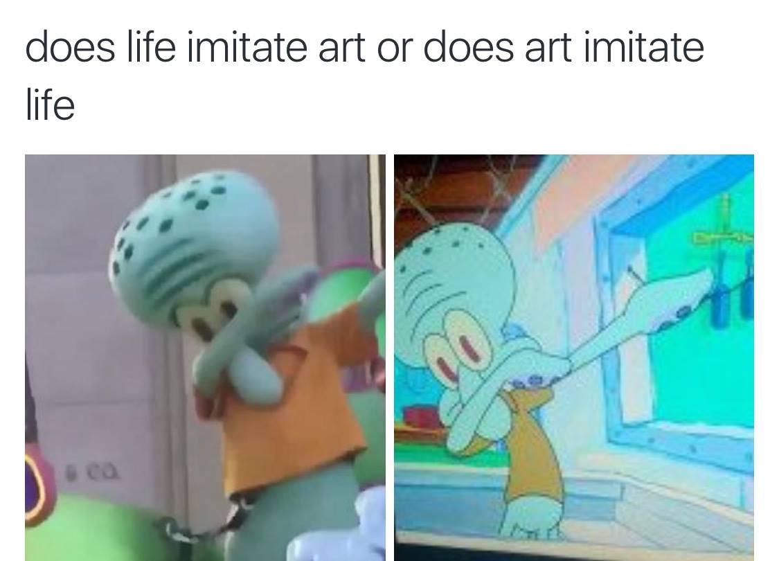 Art Squidward Dab Know Your Meme