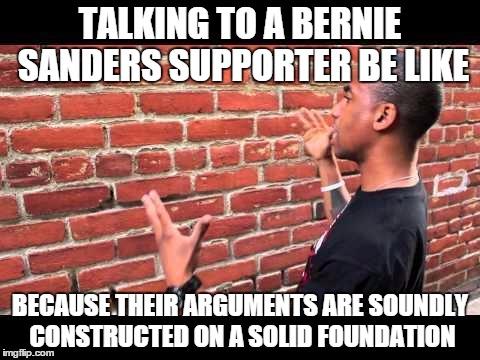 f1b brick wall bernie sanders' dank meme stash know your meme