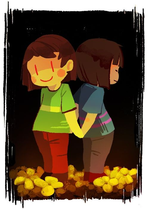 Frisk and Chara | Undertale | Know Your Meme