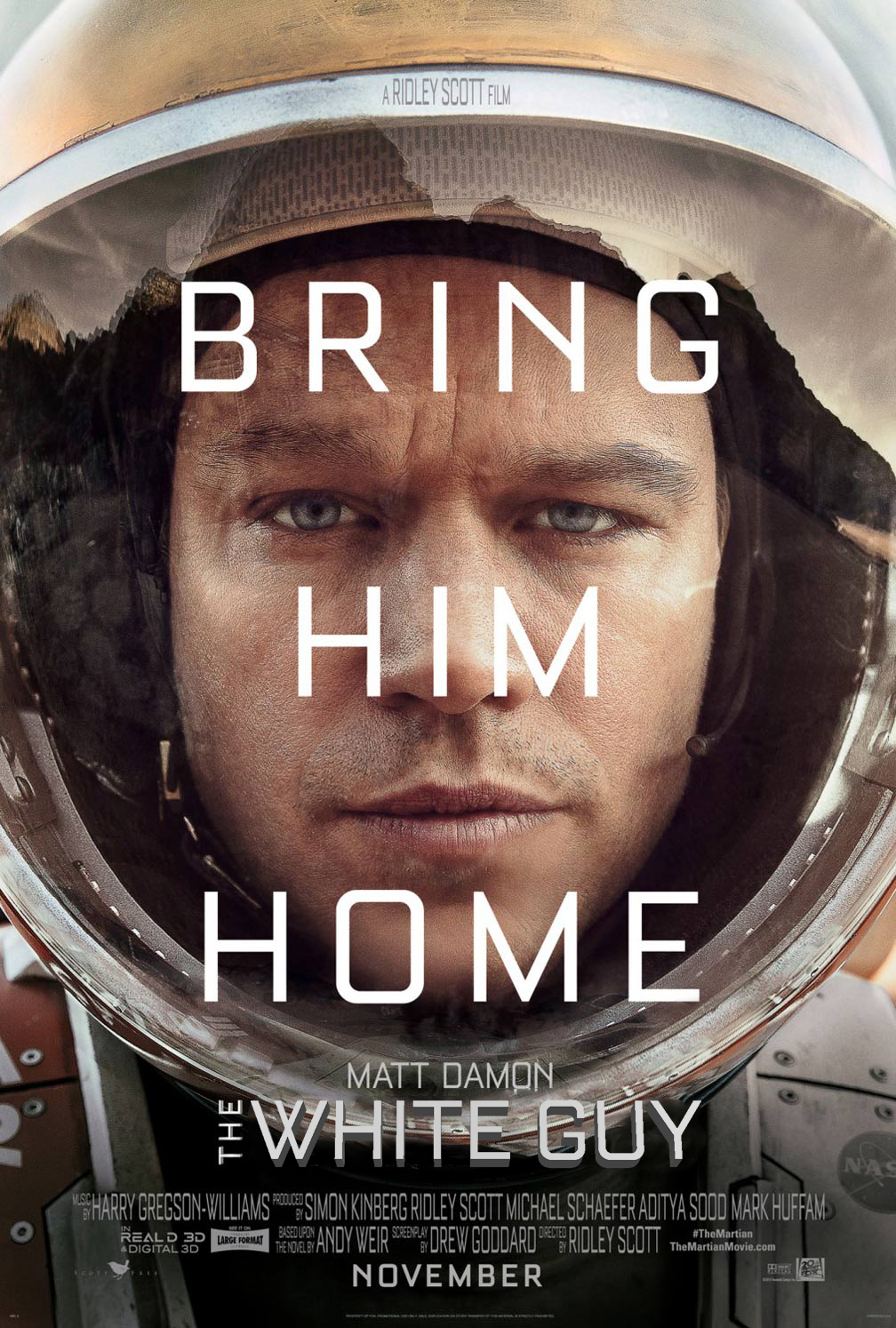 The Martian Oscars So White Know Your Meme