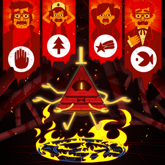 Bill Cipher Mabel Pines