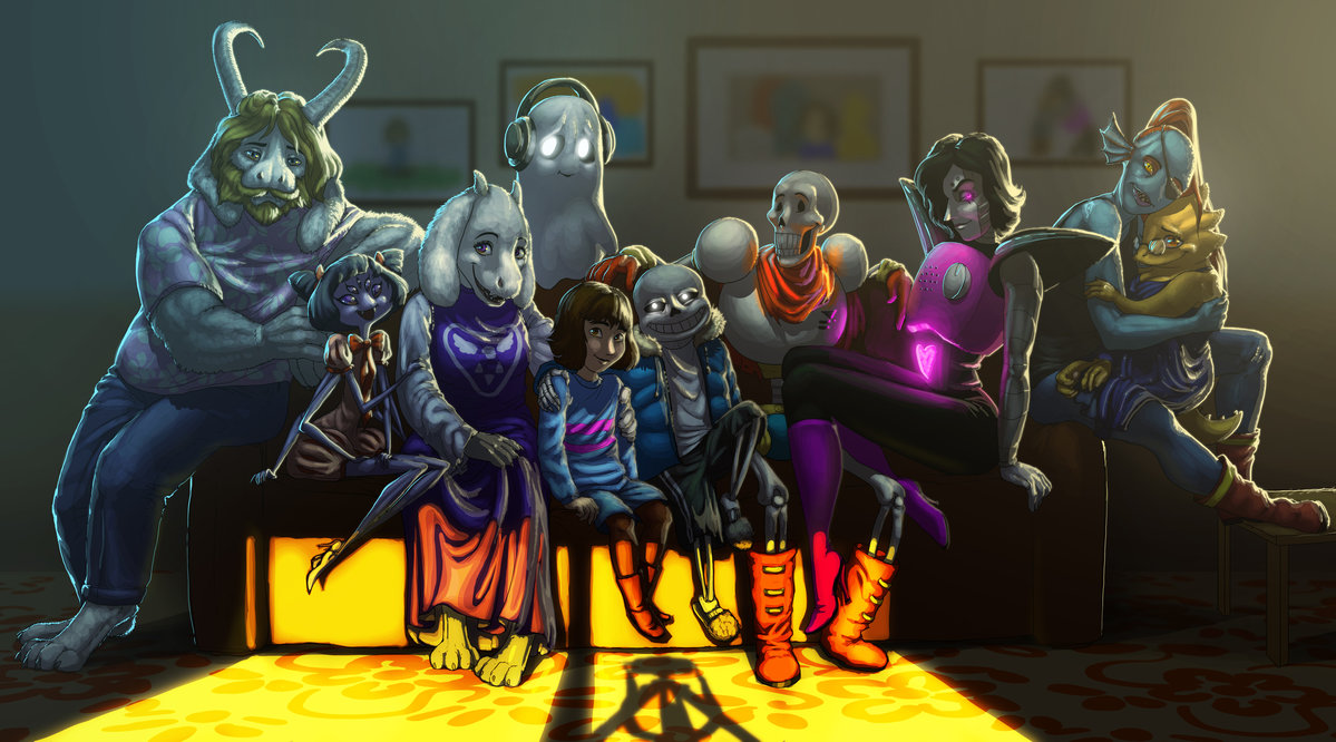 sunset family photo undertale know your meme