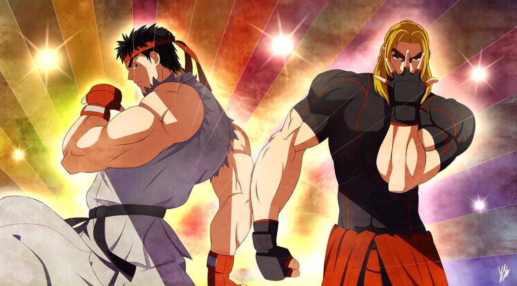 Ryu And Ken Jojo S Style By Ringoandou Street Fighter Know