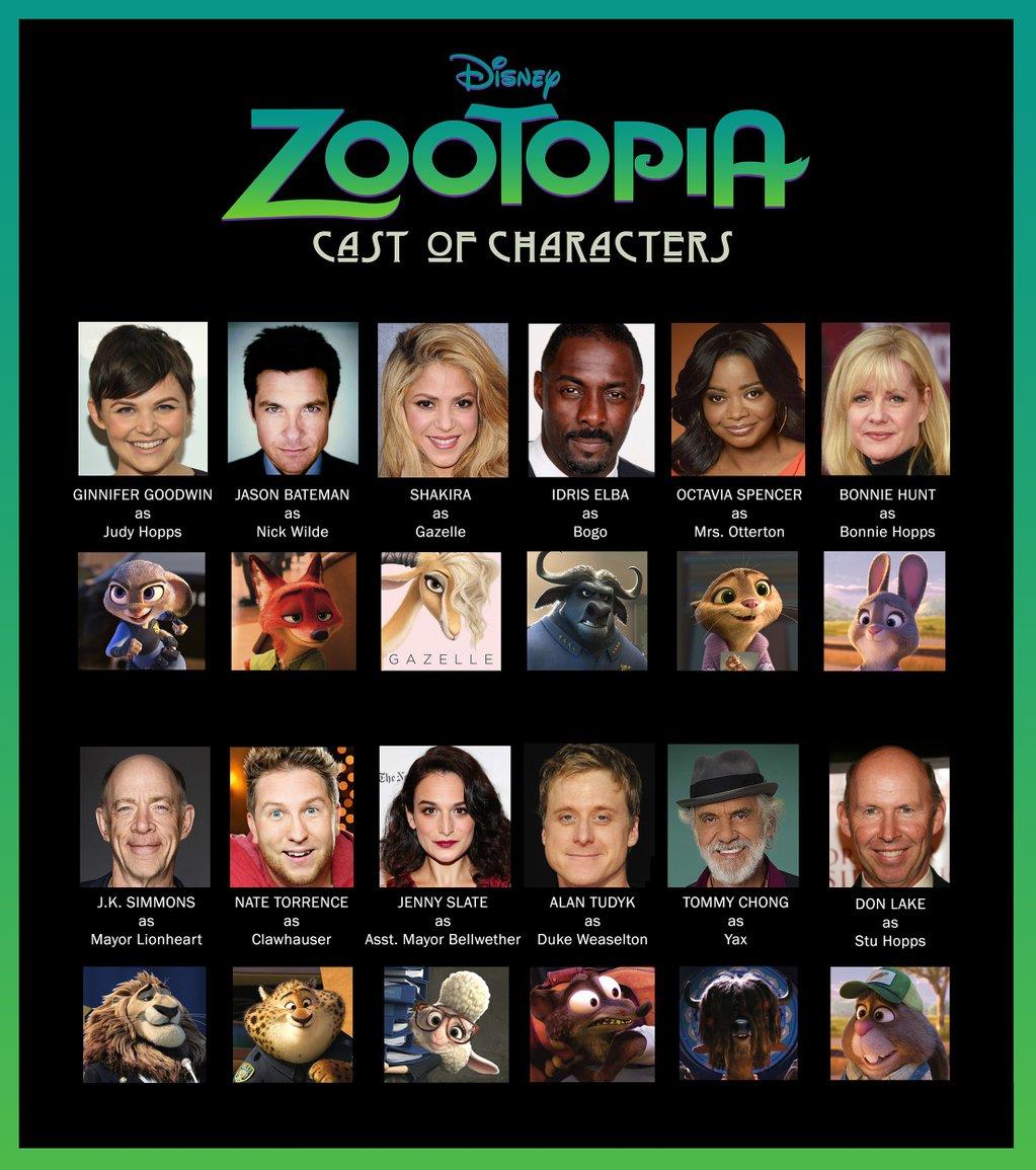 Zootopia Voice Acting Cast Zootopia Know Your Meme