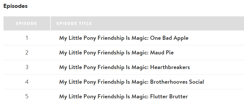new shout factory dvd with season 6 episode my little pony