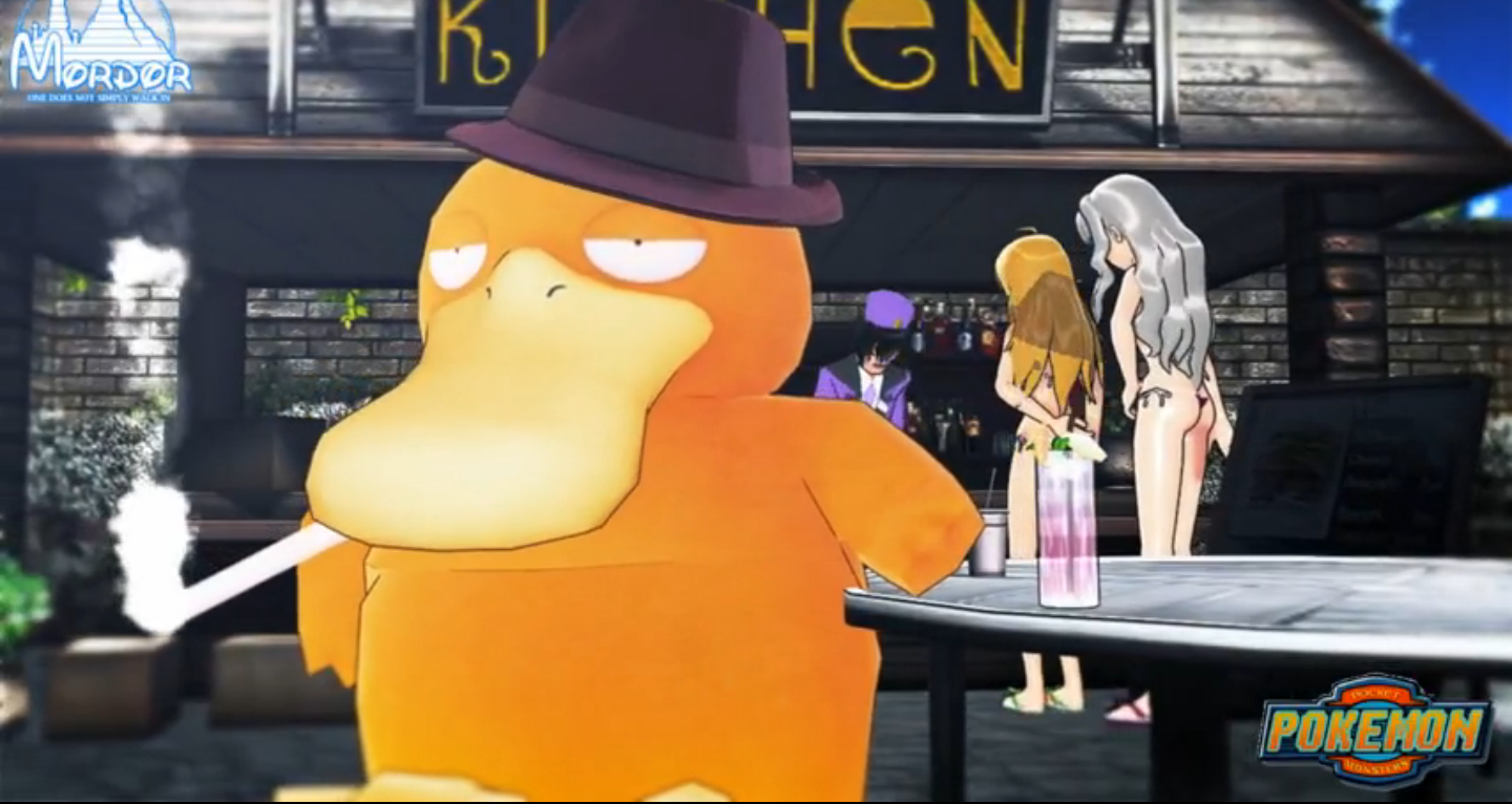 Why Playing With Detective Pikachu When We Can Have Pimp Psyduck Pokemon Know Your Meme