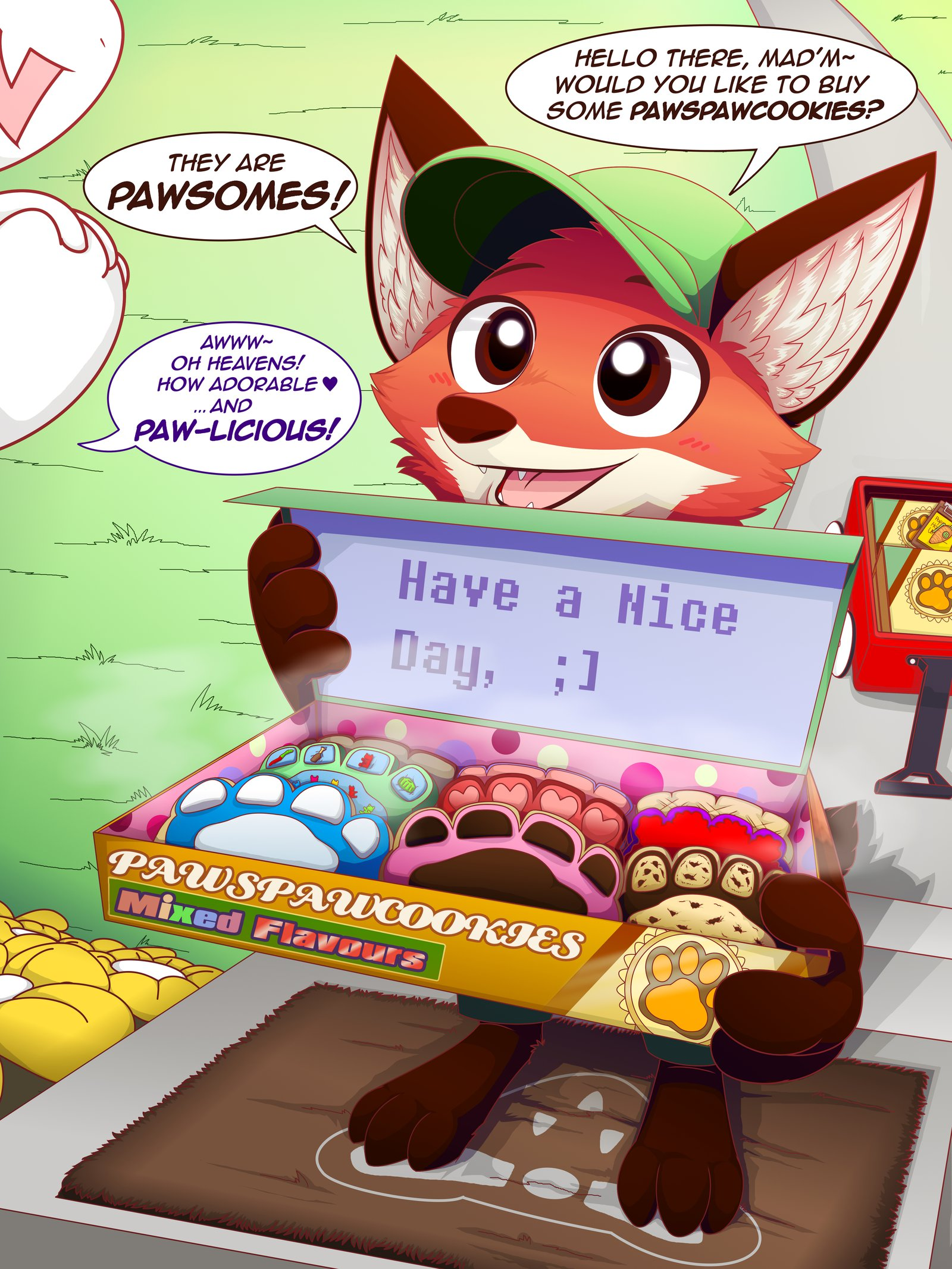 HELLO THEREu0027 ㅆADu0027M~ WOULD YOU LIKE TO BUY SOME PAWSPAWCOOKIESP THEY