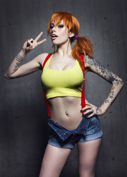 Jessica Nigri Misty Mary Jane Watson clothing human hair color shoulder costume joint  sc 1 st  Know Your Meme & Hot Misty | Pokémon | Know Your Meme