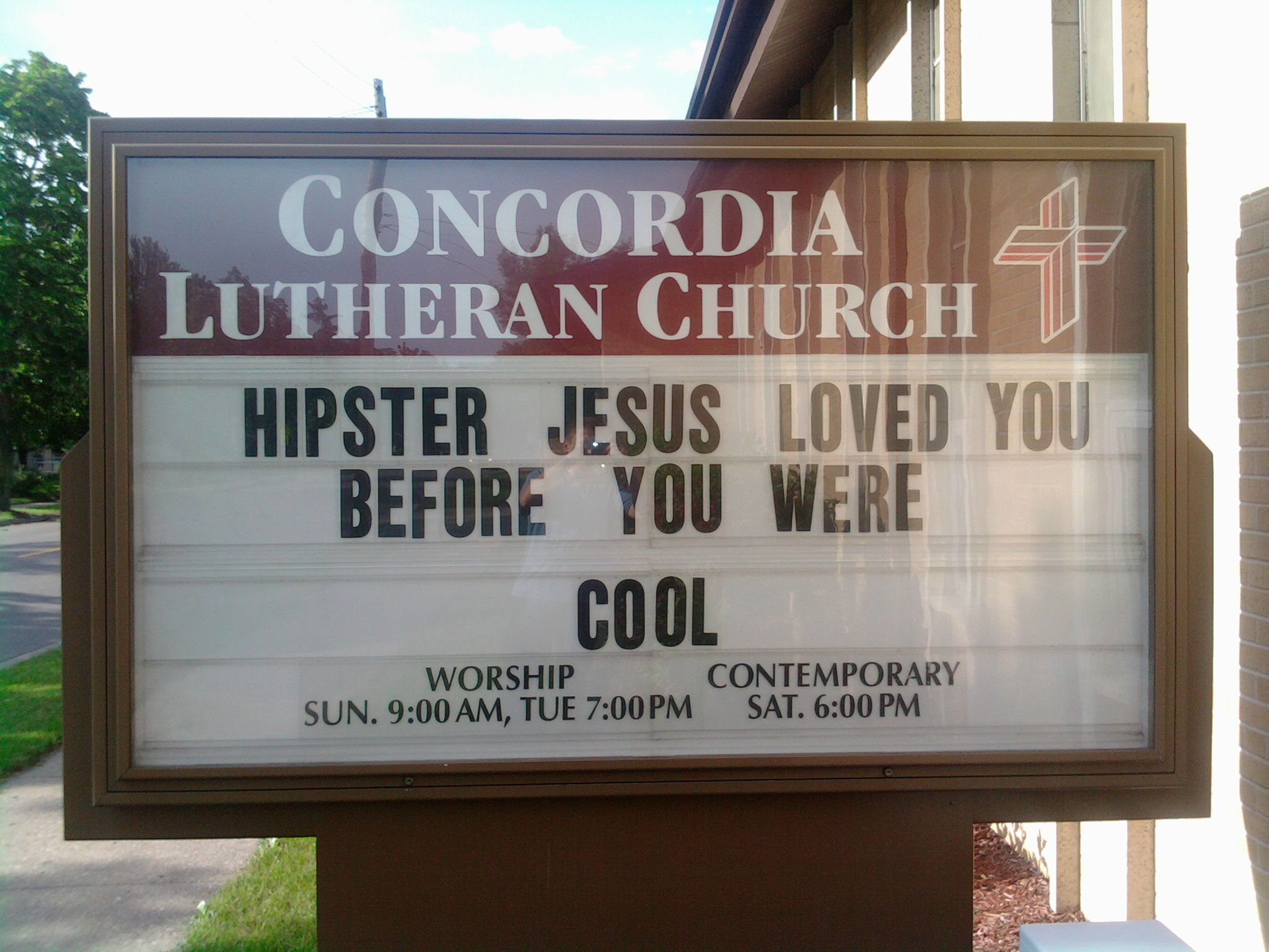 Hipster Jesus Funny Church Signs Know Your Meme