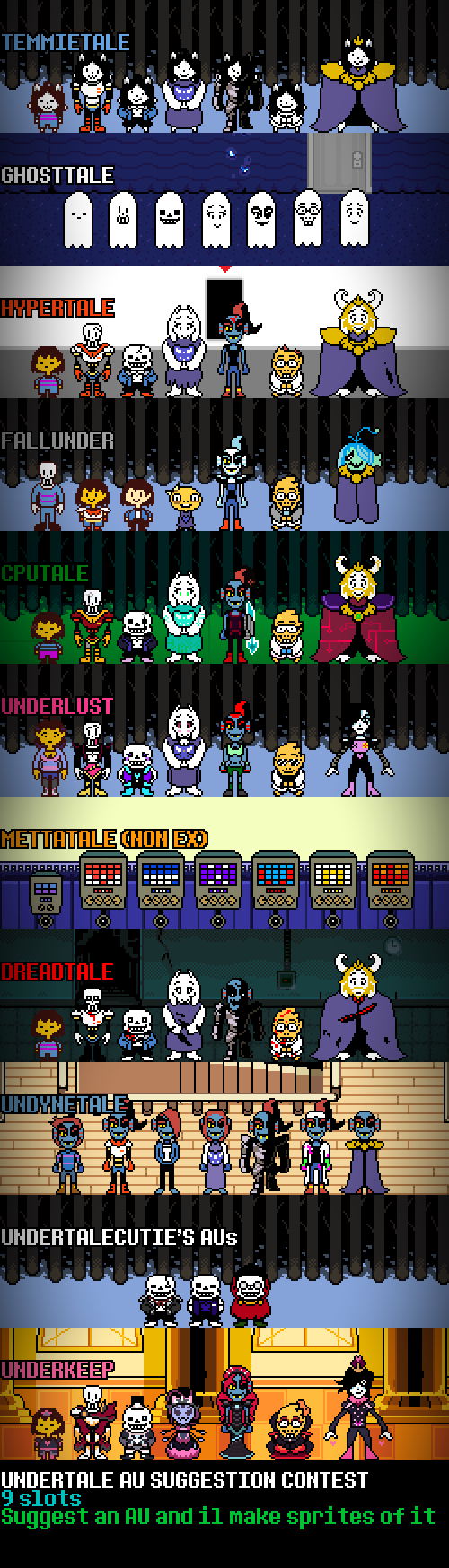 Second part of that Undertale AU list from a while ago | Undertale