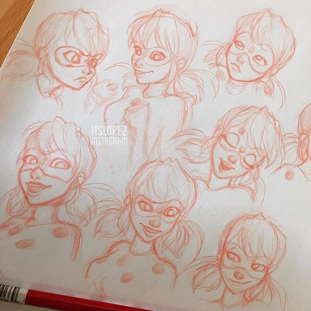 ITSLOPE2 NSTAGRAM Adrien Agreste Pink Drawing Sketch