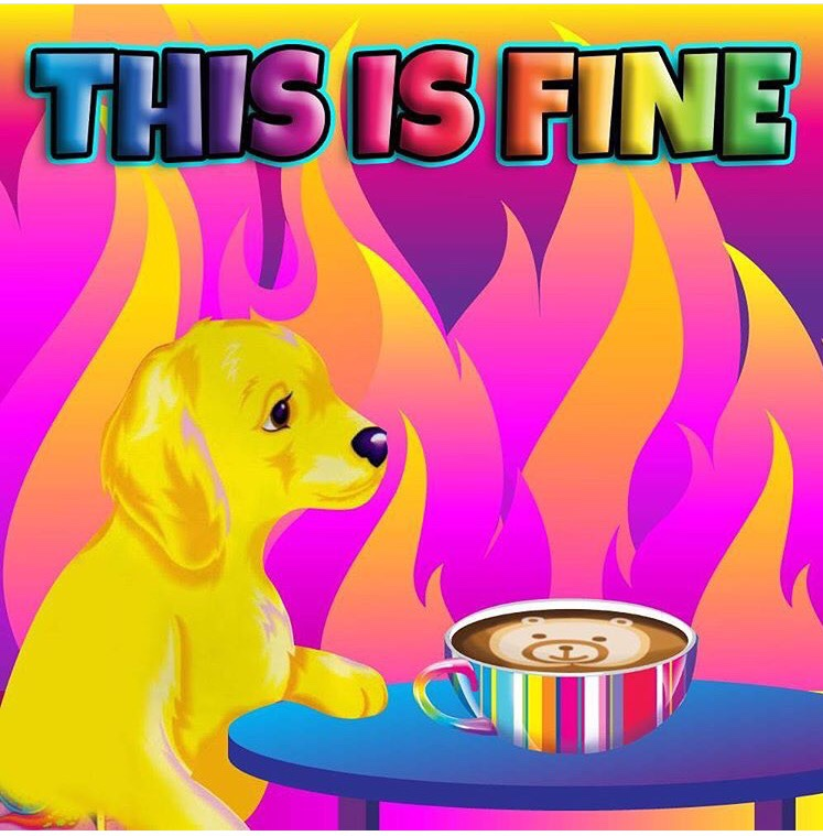 THISISFINE Cartoon Mammal Yellow Games Pink Vertebrate Text Dog Like Art