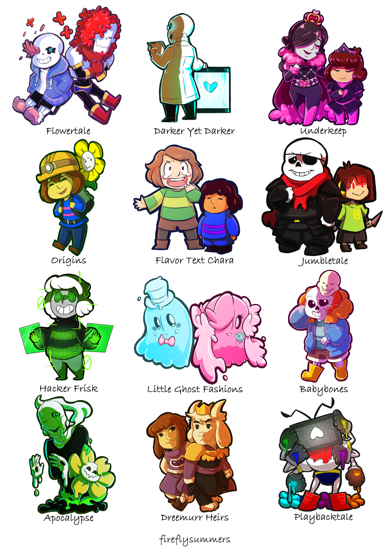 a brief preview of Tumblr undertale AUs | Undertale | Know